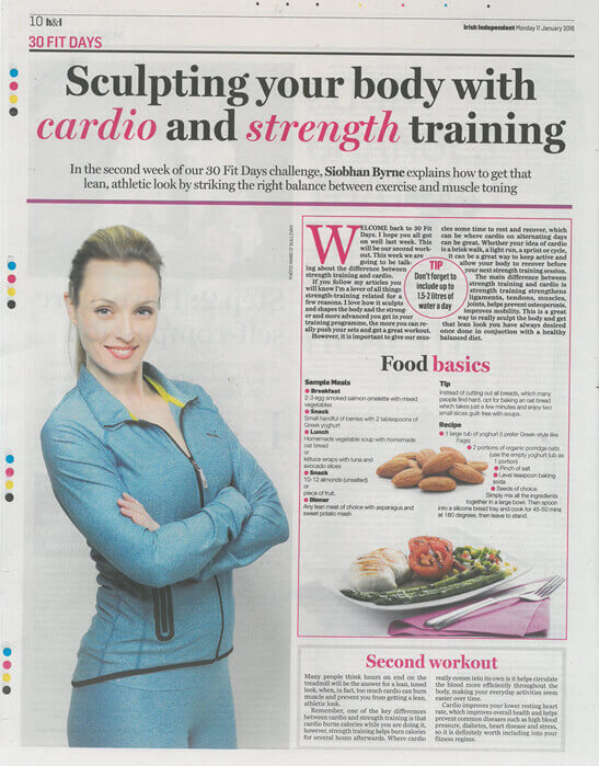 "Fit Mag: ""Sculpting your body with cardio and weight training"""
